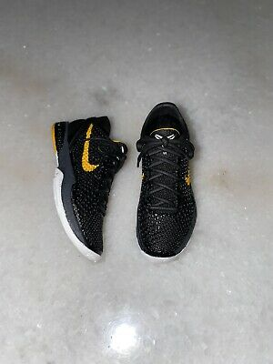 "$120 • Buy 1/6 NBA Lakers Kobe Bryant  ZOOM KOBE 6 ""BLACK DEL SOL"" Shoes For ENTERBAY"