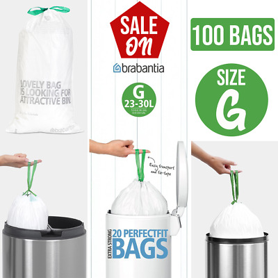 £9.99 • Buy Brabantia 375668 Bin Liners, Size G, 23-30 L - 20, 40 Bags Extra Strong Quality