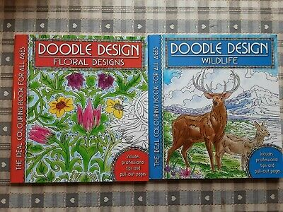 £6 • Buy Wildlife And Floral Designs Colouring Book - Doodle Design - Art Therapy, New