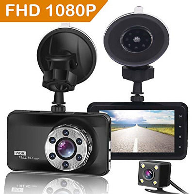 AU82.92 • Buy ORSKEY Dash Cam Front And Rear 1080P Full HD Dual Dash Camera In Car Camera For