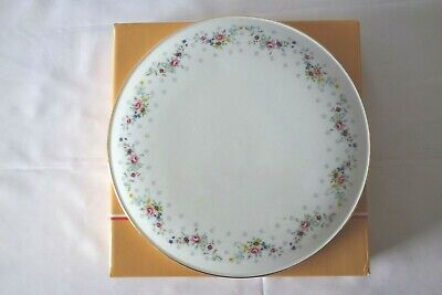 £10 • Buy Royal Osborne China Cake / Cheese Plate With Pretty Flowers – Boxed