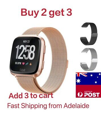AU11.90 • Buy Magnetic Milanese Stainless Watch Wrist Band Strap For Fitbit Versa 2 Lite Smart