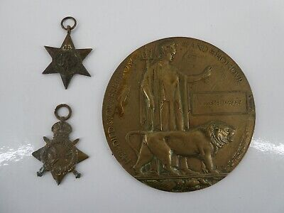 £350 • Buy Ww1 Death Penny Plaque Vi Africa Star Campaign Medal Private Joseph Mcvay D25