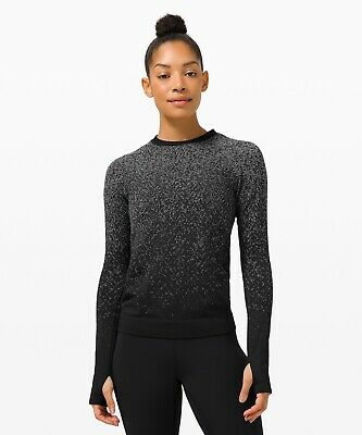 $ CDN95.34 • Buy New W Tag Lululemon Rest Less Pullover Long Sleeve Black And White-Rare Size 8