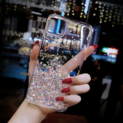 AU5.42 • Buy Glitter Sequin Stars Case For IPhone 12 Pro Max 11 XS XR 8 7 SE Bling Soft Cover