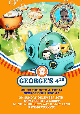£4.99 • Buy Personalised Octonauts Party Birthday Party Invite Thank You Cards Set Of 8
