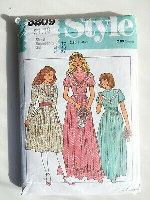 Style 3209 Sewing Pattern Girls  Dress Bridesmaid Dress Age 8 CUT Complete VG • 6.99£