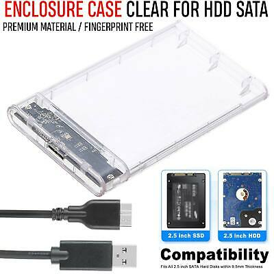 £5.49 • Buy USB 3.0 To SATA Hard Drive Enclosure Caddy External Case For 2.5  Inch HDD SSD
