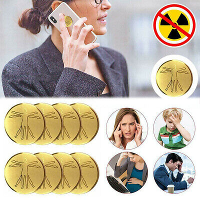 10PCS Anti Radiation Protector Sticker For Mobile Phone Laptop Ions EMF Blocker • 11.26£