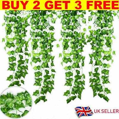 £7.99 • Buy 2x7FT Artificial Wisteria Vine Garland Plants Foliage Trailing Flower In/Outdoor