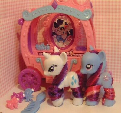 My Little Pony G4 Star Swirl + Rarity With Carriage -combine Shipping Worldwide • 65£