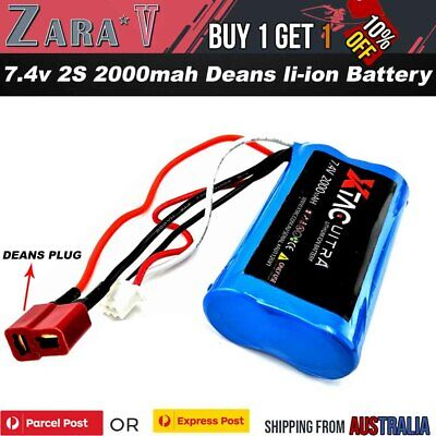 AU21.80 • Buy 7.4v 2000mAH 2S Li-ion Battery Deans For RC Toys Truck Boat Tank Car Spare Parts
