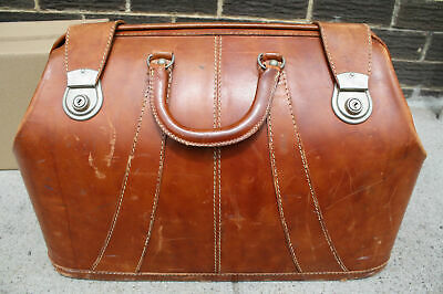 £344.90 • Buy Vintage 1950s Cheney England Made Brown Leather Bag LUGGAGE Top Grain Hide