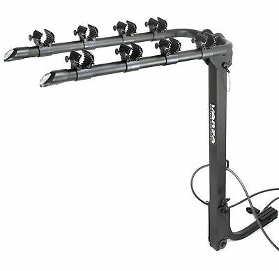 AU142 • Buy Used - VENZO 4 Bicycle Bike Rack 1.25  And 2  Hitch Mount Car Carrier