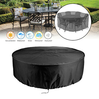£16.98 • Buy Outdoor Rattan Cube Table Round Furniture Set Cover Gerden Patio Rain Protection