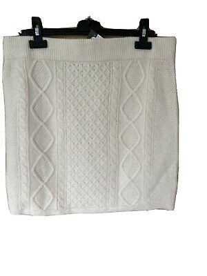 £2 • Buy Primark Cream Cable Knit Skirt XL