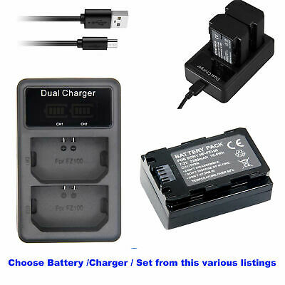 $ CDN53.68 • Buy Battery Or  LCD Charger For Sony NP-FZ100 A9 A7R III A7 III α9R α9S α6600