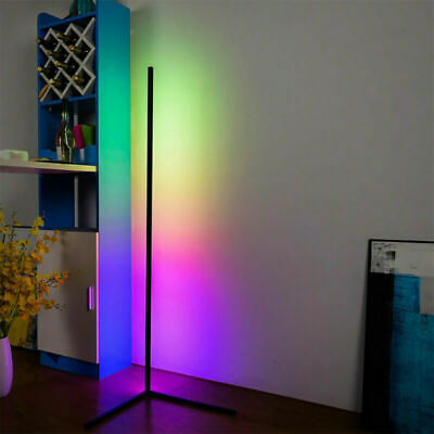 £46.99 • Buy Colour Changing RGB Mood Lighting Metal LED Corner Floor Wall Lamp With Remote A
