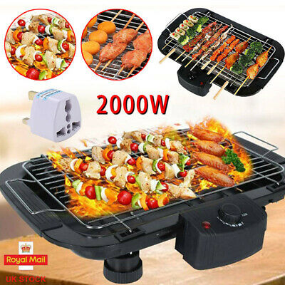 £20.99 • Buy Portable Smokeless BBQ Grill Indoor Non Stick Barbecue Electric Table Top Grill