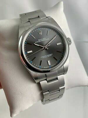 $ CDN9667.55 • Buy 2017 Rolex Oyster Perpetual 114300 39mm Dark Rhodium Dial Watch W/ Box + Papers