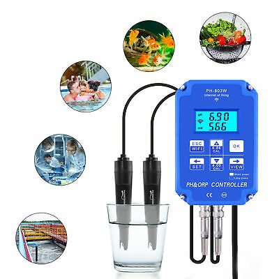 £83.63 • Buy WIFI ORP/PH Meter Controller Aquarium Hydroponic Online Water Quality Monitor