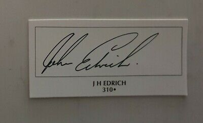 AU16 • Buy John Edrich  Cricket Signed In Person  Neat 300 Card England Ashes Australia