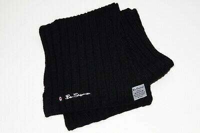 £5.50 • Buy Ben Sherman Black Cable Knit Scarf - One Size
