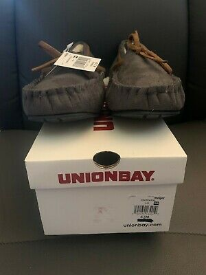 AU41.04 • Buy UNIONBAY Women's Yum Pewter Moccasin Slippers Size 8.5 New In Box