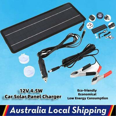 AU17.99 • Buy 4.5W 12V Solar Panel Kit Power Charging Battery Charger Caravan Camping Car Boat