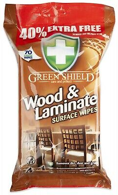 2 X PACKS WOOD FLOOR LAMINATE Surface Cleaning Wipes 140 LARGE WIPES • 8.99£
