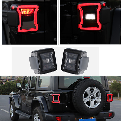 AU169.97 • Buy LED Car Rear Headlight Tail Lights 2X For 2018-2021 Jeep Wrangler JL Accessories