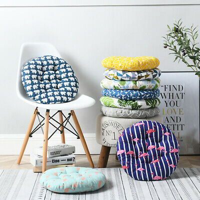 40x40 Circle Cotton Cushions Dining Chair Seat Pads Thick Floor Cushions Pillow • 6.62£