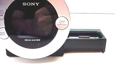 AU21.55 • Buy Sony Alarm Clock AM/FM Radio 30 Pin IPhone/iPod Dock  Dream Machine ICF-C7iP