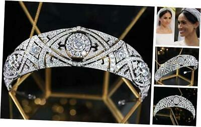 $ CDN94.85 • Buy CZ Full Cubic Zirconia Tiaras And Crowns For Women Prom Quinceanera A-Silver