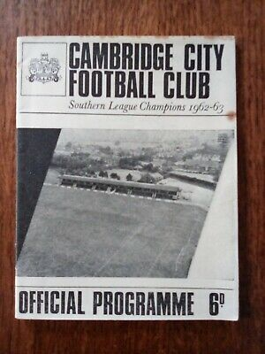 £2.99 • Buy Cambridge City V Cambridge United Eastern Professional Cup  16/11/65