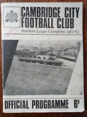 £2.99 • Buy Cambridge City V Cambridge United Cambs Professional Cup 29/03/66