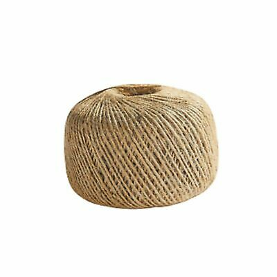 £5.39 • Buy 100m 3 Ply Natural Brown Soft JUTE TWINE Sisal String Rustic Cord Shabby