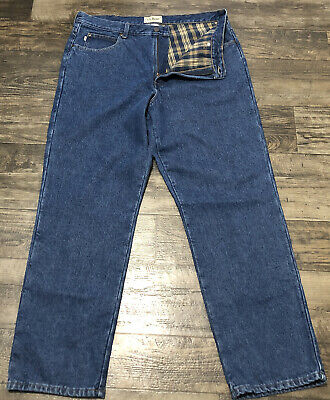 $23.39 • Buy L.L. Bean Classic Fit Mens Flannel Lined Jeans Size 38x30 (Measured 36X30)