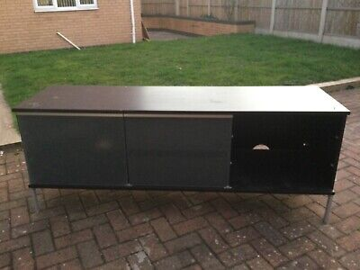 £95 • Buy Ikea Tv Cabinet With Drawers & Sliding Glass Doors