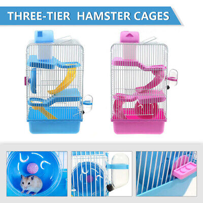 £16.59 • Buy 3 Tiers Gorgeous Hamster Mouse Animal Cage Story Fantasia Hamster Cage Castle