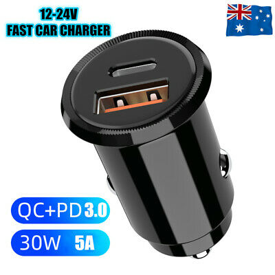 AU12.45 • Buy FAST CHARGING USB-C Car PD TYPE C Charger For IPhone 12 11 Pro Max XS XR Samsung