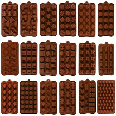 DIY Silicone Chocolate Mould Candy Baking Mold Cookies Cake Decorating Moulds UK • 3.59£