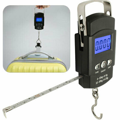 £7.29 • Buy Digital Travel Fishing Luggage Scales Weigh Up To 110lb / 50kg Carp Match Sea UK
