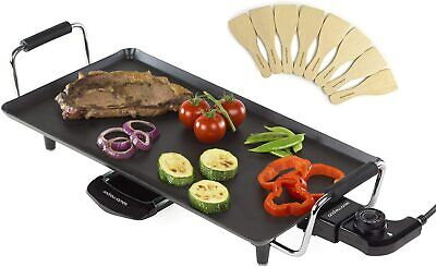 £29.99 • Buy Teppanyaki Electric Grill Plate   Large Non-Stick Tabletop Griddle Andrew James