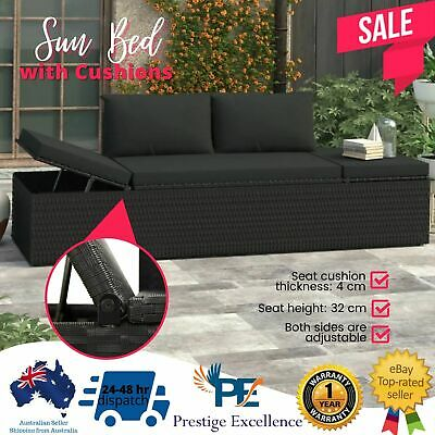 AU253.97 • Buy Garden Bench Seat Outdoor Furniture Lounge Patio Wicker Poly Rattan Day Sun Bed