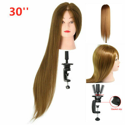 New 30  Salon Hair Training Head Hairdressing Styling Mannequin Doll + Clamp UK • 11.39£