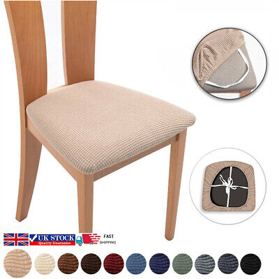 £3.99 • Buy Removable Stretch Dining Chair Seat Covers Seat Cushion Slipcovers Protector UK