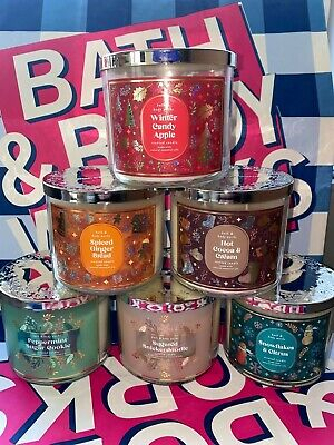 £23.95 • Buy Bath & Body Works 3 Wick Candle 14.5oz 411g *RARE SPECIAL USA SCENTS*