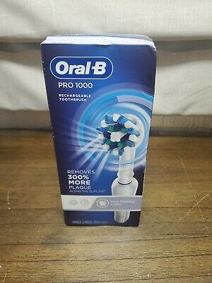 AU57.34 • Buy Oral-B White Pro 1000 Power Rechargeable Toothbrush - White