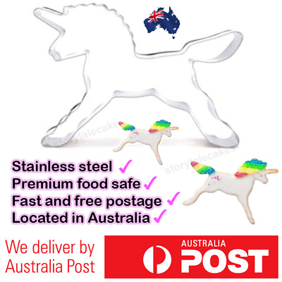 AU9.95 • Buy Unicorn Cookie Cutter Stainless Mould Cake Decorating Biscuit Pastry Baking Mold